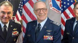CAP Maj Gen Joe Vazquez, CAP Col Robert Karton, CAP Brig Gen Larry Myrick