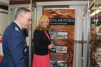 CAP Maj Gen Joe Vazquez, Deborah James