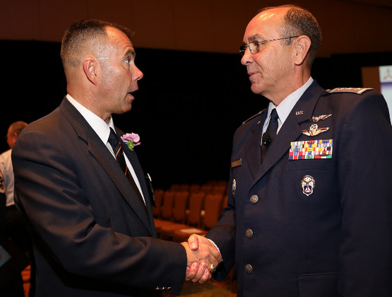 CAP Col Jayson Altieri, BoG Vice Chair; CAP Maj Gen Mark Smith, National Commander