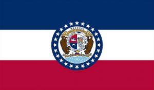 Distressed Missouri State Flag