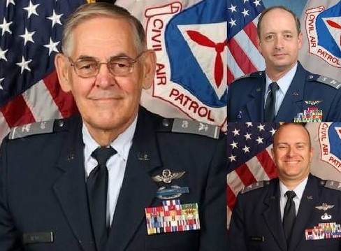 CAP Col Dale E. Newell, CAP Col Al Bedgood, CAP Col Richard Greenwood