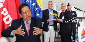CITGO's Asdrubal Chavez, Eduardo Assef and Civil Air Patrol's Don Rowland