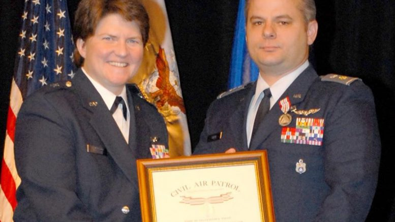 Maj Gen Amy Courter Awards CAP Silver Medal of Valor Awarded to Lt Col James L. Shaw