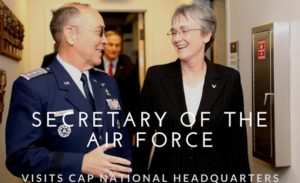 CAP Maj Gen Mark Smith, Secretary of USAF Heather Wilson