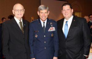 CAP Brig Gen Paul Bergman, USAF Gen Schwartz and Mr. Brian Campbell at the 2012 Spaatz Banquet