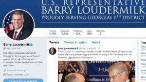 After deleting his first tweet on his heroic Silver Medal of Valor, Rep Loudermilk rethinks.