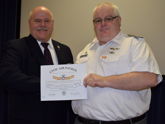 CAP Col Richard Hill, CAP Lt Col Phil Hirons of Rhode Island Wing