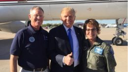 Civil Air Patrol's Wendy Rogers and company with President Trump