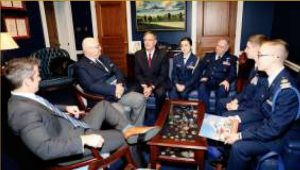 """Shiny young cadets are rallied on state """"Legislative Day"""" to meet with congressional leaders and encourage allocation of additional taxpayer monies to Civil Air Patrol."""