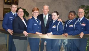 Delaware Senator Tom Carper is a member of Civil Air Patrol and no advocate for Donald Trump