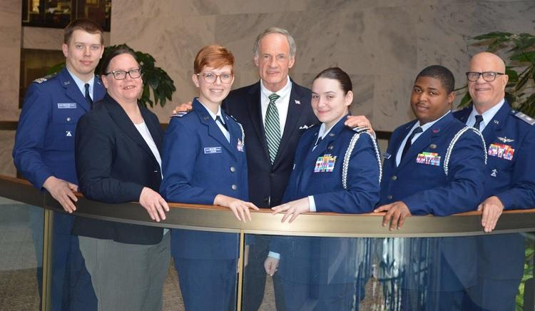 Delaware Senator Tom Carper is a member of Civil Air Patrol and no advocate for Donald Trump
