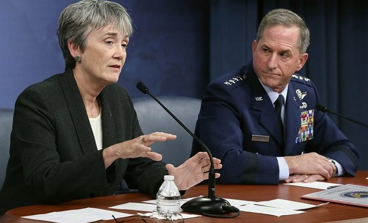 Heather Wilson and Gen Goldfein, USAF, 2017