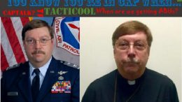 Civil Air Patrol's Col Reverend Ken Parris chats it up in YKYICW