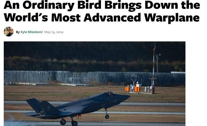 Author at Popular Mechanics has words on the F-35.