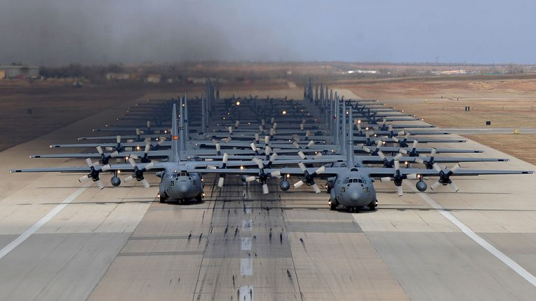 Twenty-four ship elephant walk at Dyess AFB