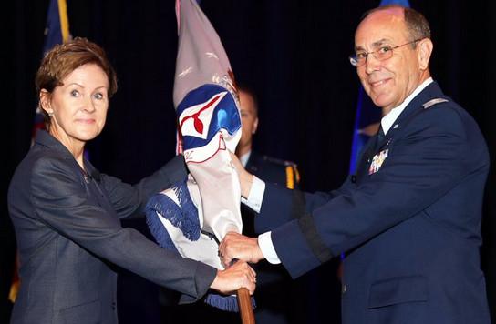 Lt Gen Judith Fedder and CAP Maj Gen Mark Smith