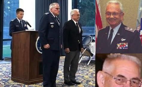 CAP Col Tom Kettel grunts as Col Warren Vest replaces CAP Col Mitch Edwards as Montana Wing Commander. Warren Vest, Dale Newell