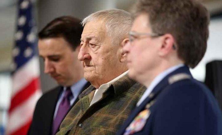 Civil Air Patrol Politicians: Rep Ryan Costello (left) with Col. Sandra E. Brandon, CAP (right)