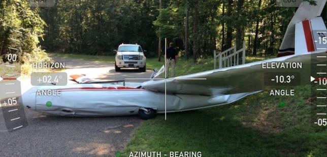 Crashed Civil Air Patrol Glider in Deatsville, Alabama.