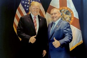 Lev Parnas with Donald Trump in Florida